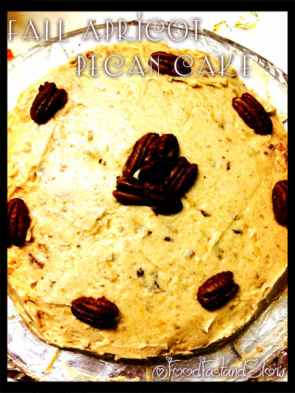 Fall Apricot and Pecan Cake